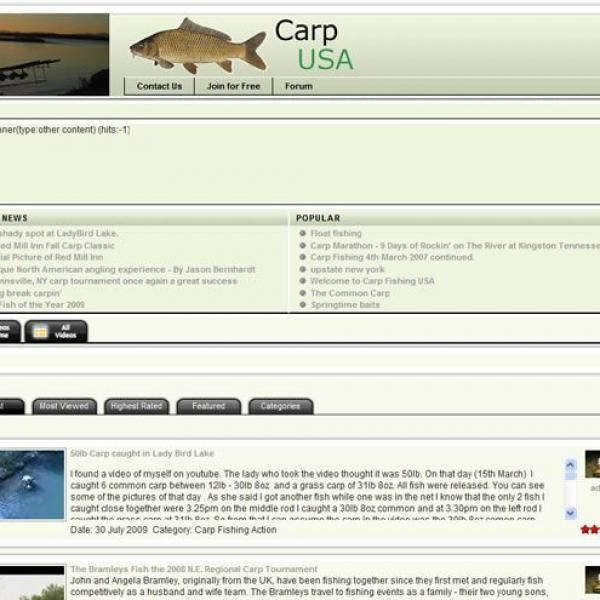 Carp fishing USA